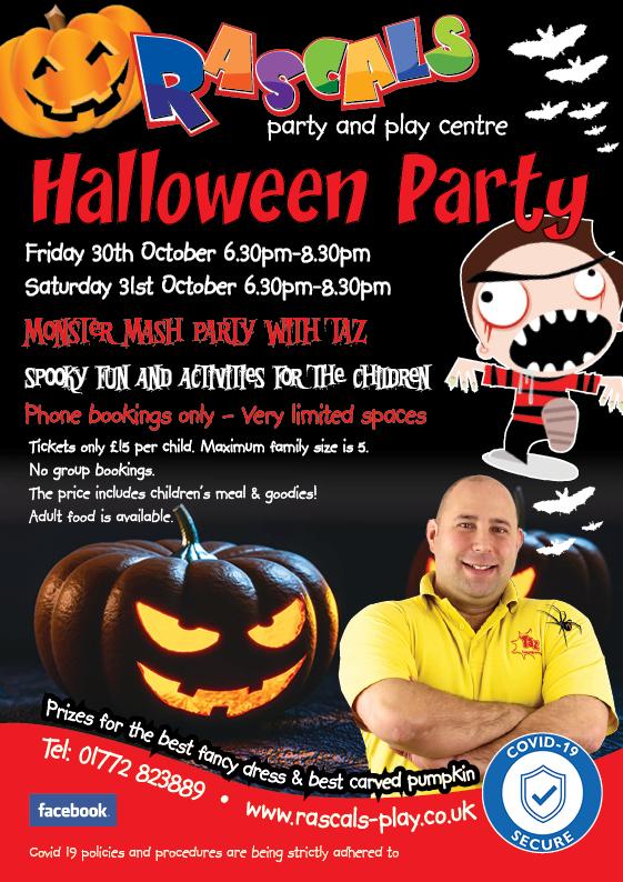 Rascals Halloween Party Preston